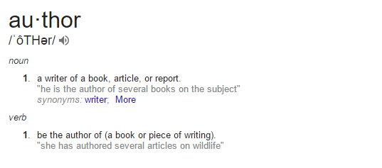 Authordefinition