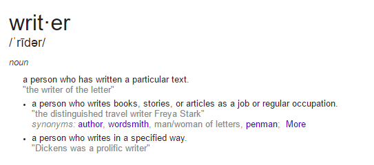 What is the difference between 'writer' and 'author' ?